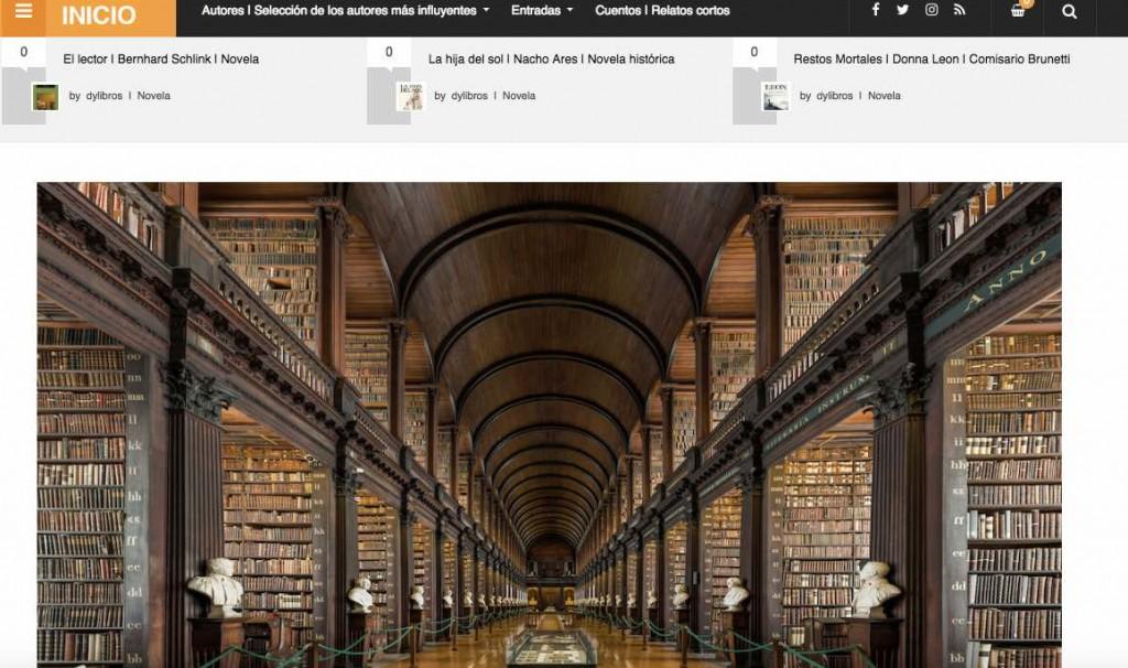 Dylibros, web sobre libros y literatura, opiniones y reseñas. Información sobre escritores y sus obras