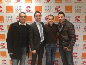 Foto Orange Empresas Lorca (segundo por la derecha)