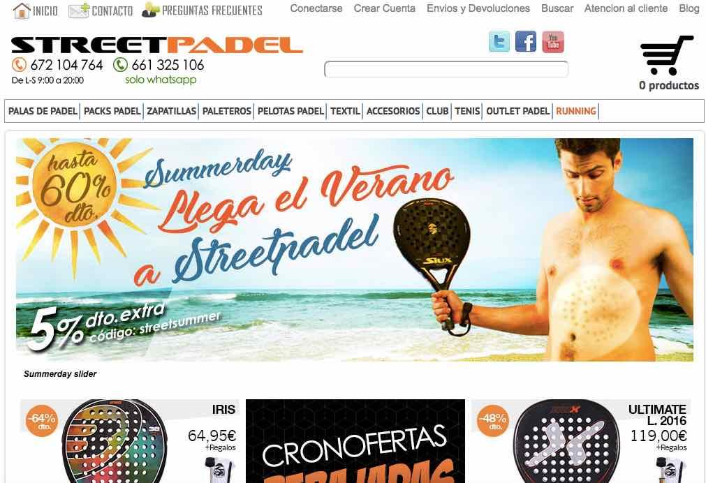 streetpadel, tienda de pádel online